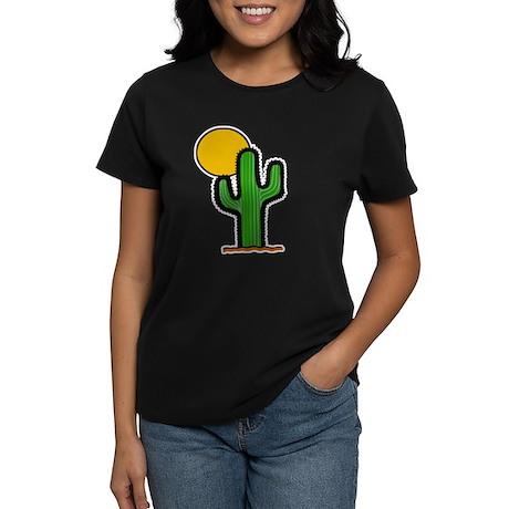 'Desert Cactus' Women's Dark T-Shirt