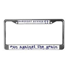 barefoot runner license plate frame