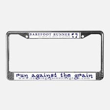 barefoot runner license plate frame