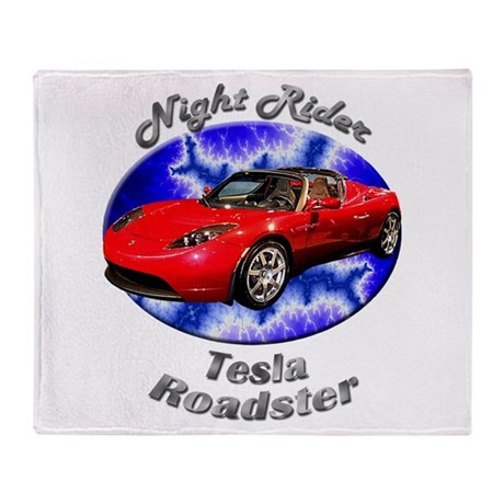 Tesla Roadster Throw Blanket