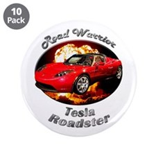 Tesla Roadster 3.5 Inch Button (10 pack)