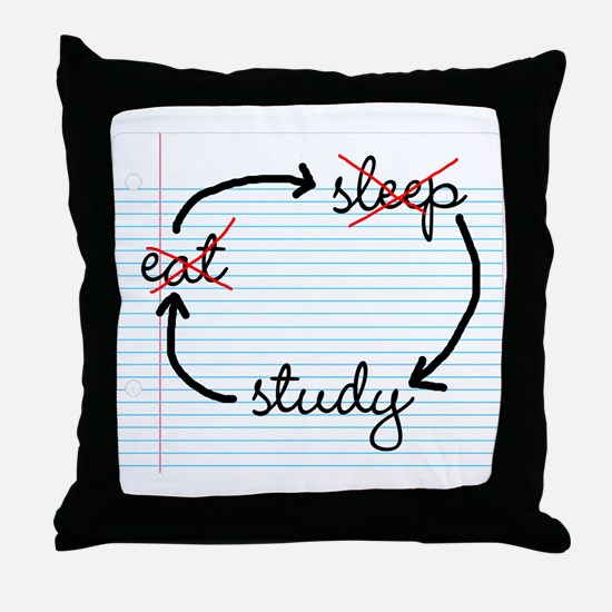 'Study, Study, Study' Throw Pillow
