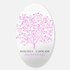 Breast Cancer Awareness Tree Sticker (Oval)
