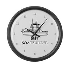 Best Boatbuilder Large Wall Clock