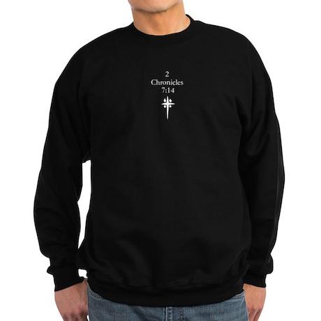 2 Chr 7:14 Cross HS Sweatshirt (dark)