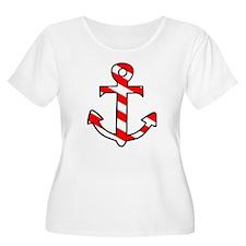 'Candy Stripe Anchor' T-Shirt