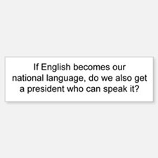 National Language - Do We Get Bumper Car Car Sticker