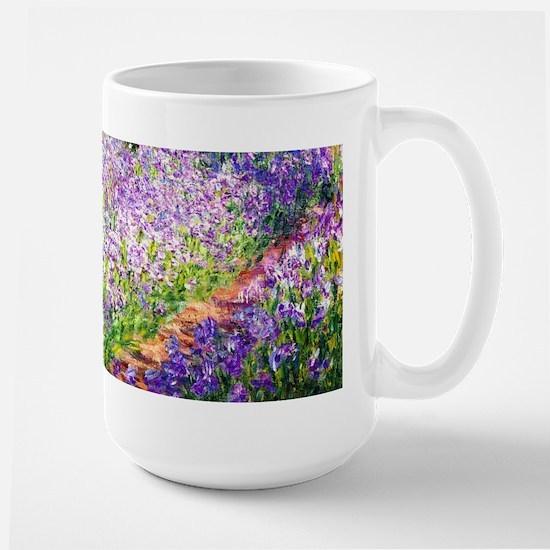 Monet - Irises in Garden Large Mug