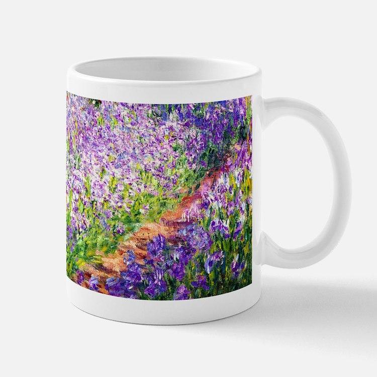 Monet - Irises in Garden Mug