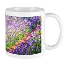 Monet - Irises in Garden Small Mugs