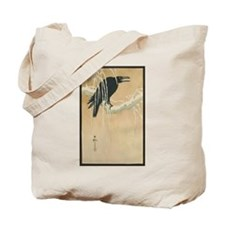 Winter Crow Tote Bag