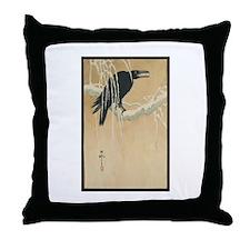 Winter Crow Throw Pillow