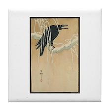 Winter Crow Tile Coaster