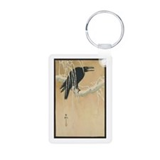 Winter Crow Aluminum Photo Keychain