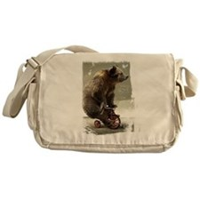 Funny Bear On Tricycle Messenger Bag