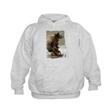 Funny Bear On Tricycle Hoody