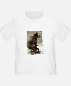 Funny Bear On Tricycle T
