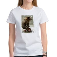 Funny Bear On Tricycle Tee