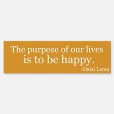 dalai lama - purpose of life to be happy sticker