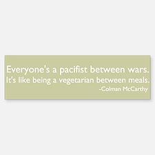 OWS - pacifist between wars like vegetarian