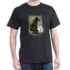 Funny Bear On Tricycle T-Shirt