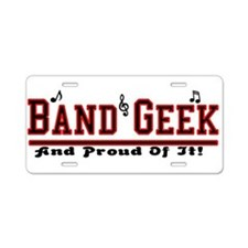 Band Geek Aluminum License Plate