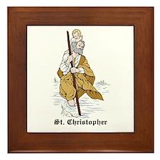 St. Christopher Framed Tile