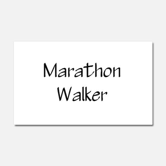 Cute Half marathon Car Magnet 20 x 12