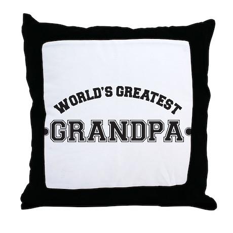 World's Greatest Grandpa Throw Pillow