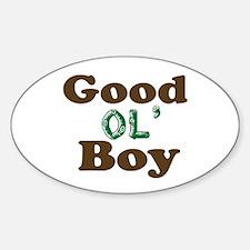 GOOD OL' BOY Oval Decal