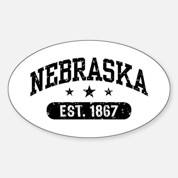 Nebraska Est.1867 Sticker (Oval)