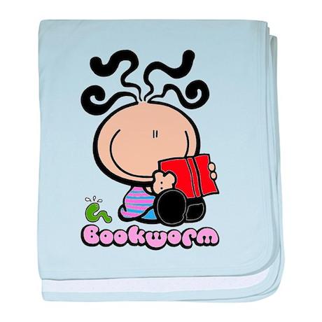 Bookworm baby blanket