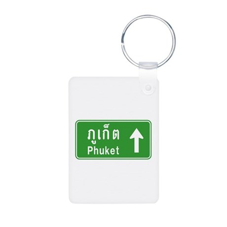 Phuket Highway Traffic Sign Aluminum Photo Keychai