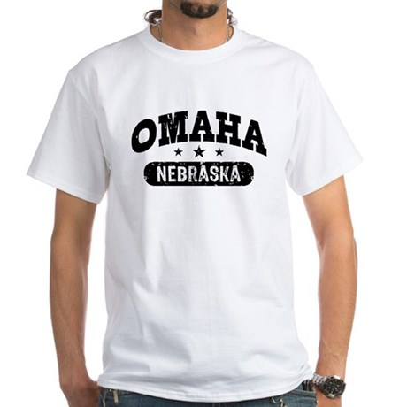 Omaha Nebraska White T-Shirt