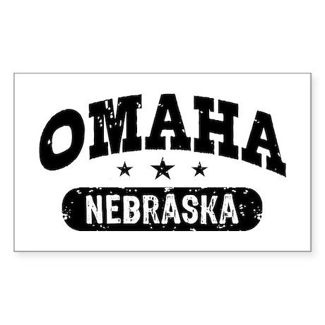 Omaha Nebraska Sticker (Rectangle)