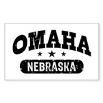 Omaha Nebraska Sticker (Rectangle)