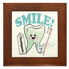 Dentist Dental Hygienist Teeth Framed Tile