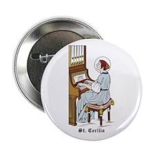 """St. Cecilia 2.25"""" Button (10 pack)"""