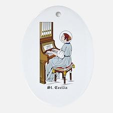 St. Cecilia Oval Ornament