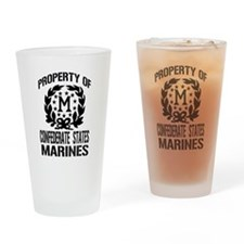 Property Of Confederate Marin Drinking Glass