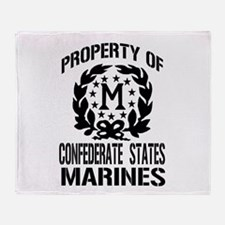 Property Of Confederate Marin Throw Blanket