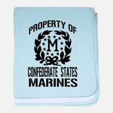 Property Of Confederate Marin baby blanket