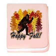 Happy Fall Bigfoot Sasquatch Yetti baby blanket