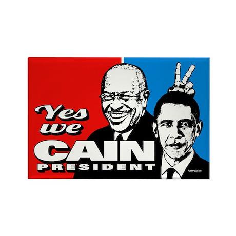 Cain - Bunny Ears Rectangle Magnet