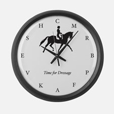 Time for Dressage Clock (large, black)