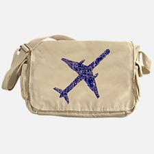 Old, Worn Jet Plane Messenger Bag