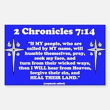 2 Chr 7:14 Cross HS Decal