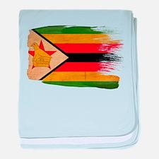 Zimbabwe Flag baby blanket