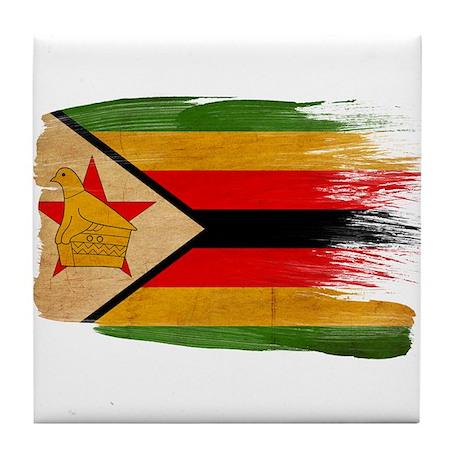 Zimbabwe Flag Tile Coaster