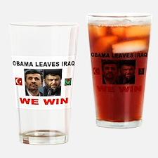 OBAMA DISASTER Drinking Glass